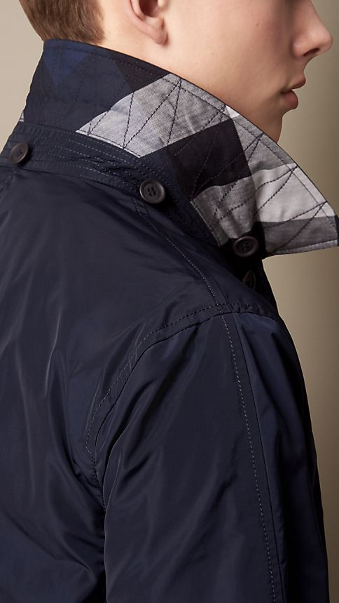 Ink Technical Fabric Detachable Hood Jacket - Image 3