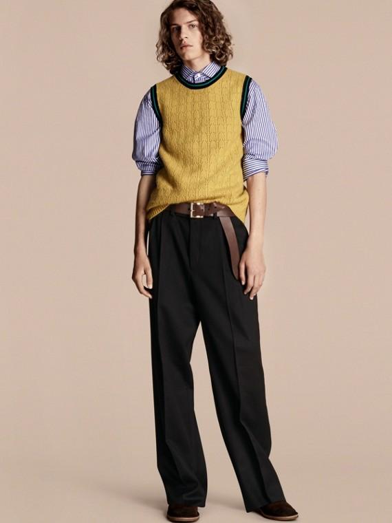 Débardeur sportswear en laine mélangée