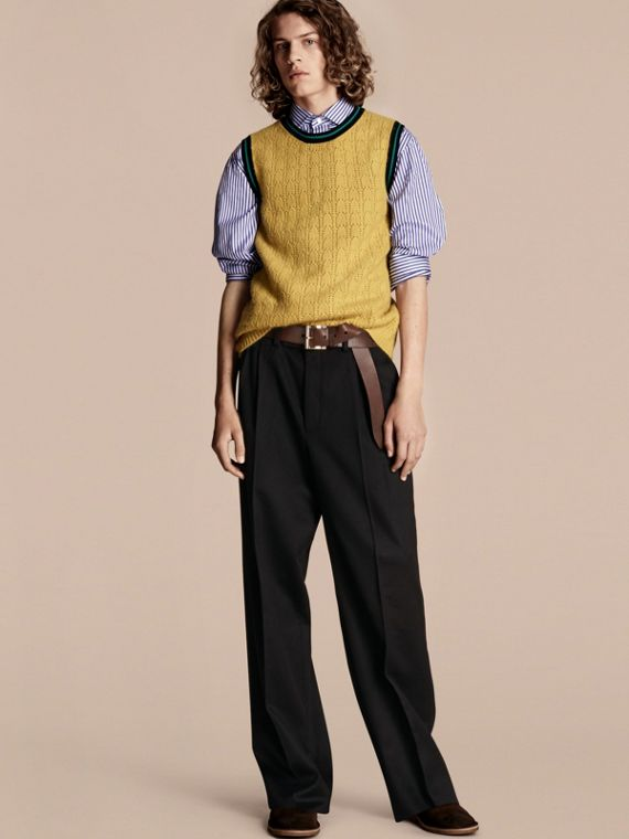 Sport Detail Wool Blend Vest