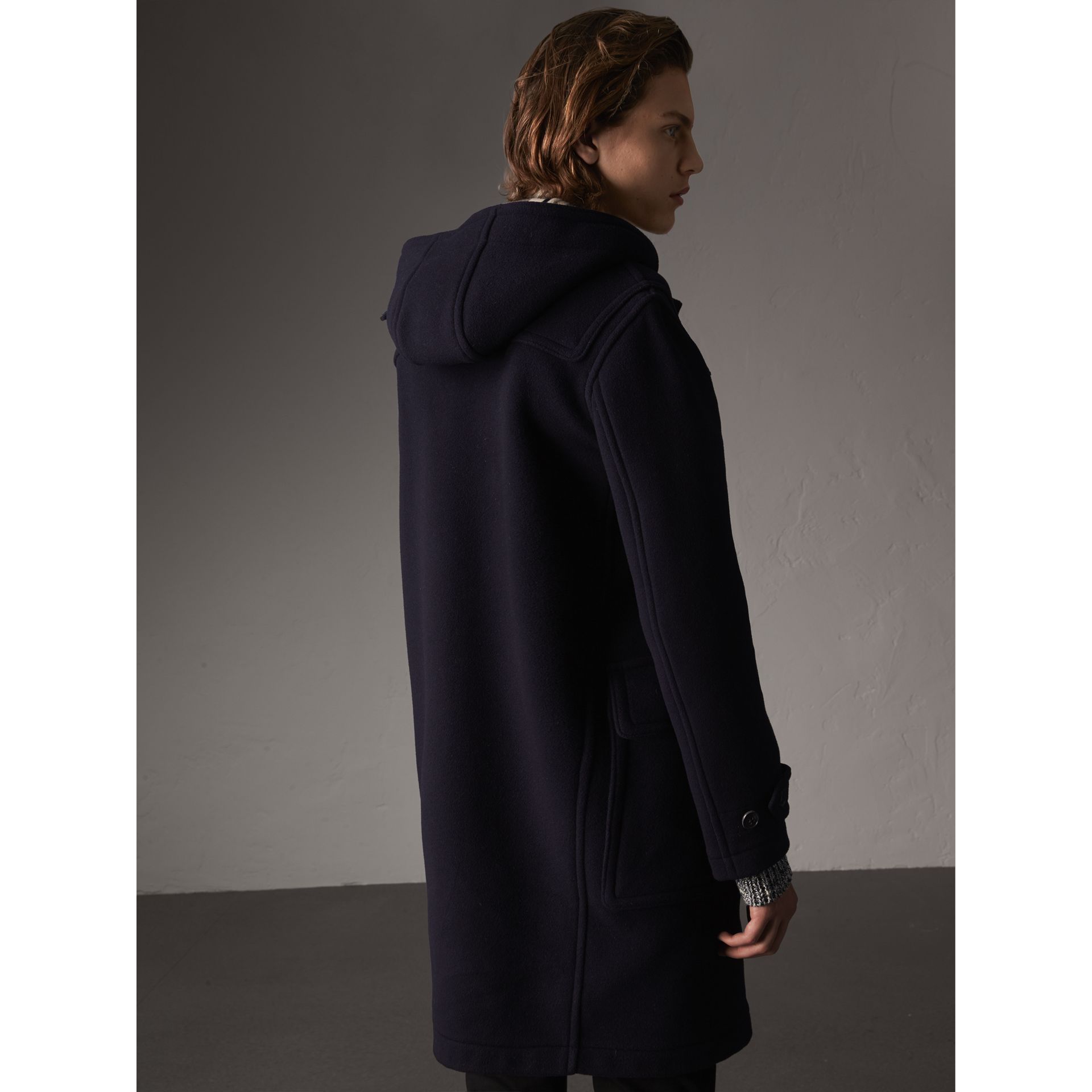Wool-Blend Duffle Coat in Navy - Men | Burberry - gallery image 3