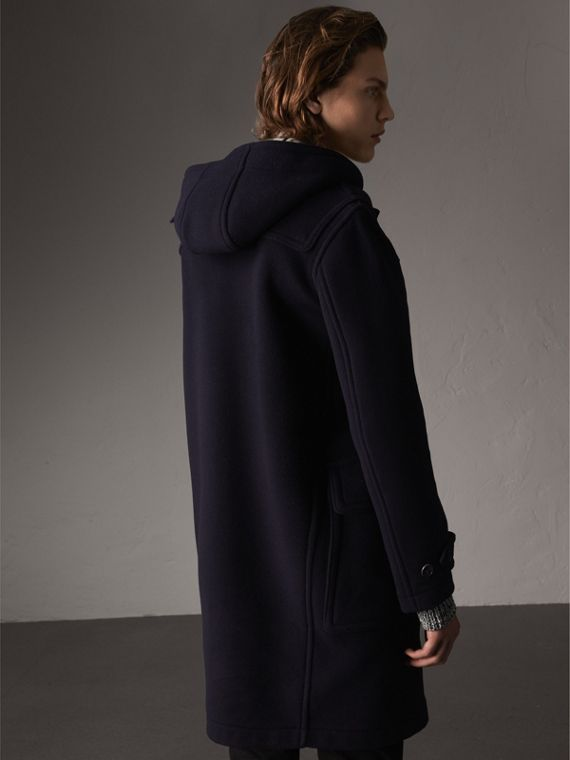 Wool-Blend Duffle Coat in Navy - Men | Burberry - cell image 2