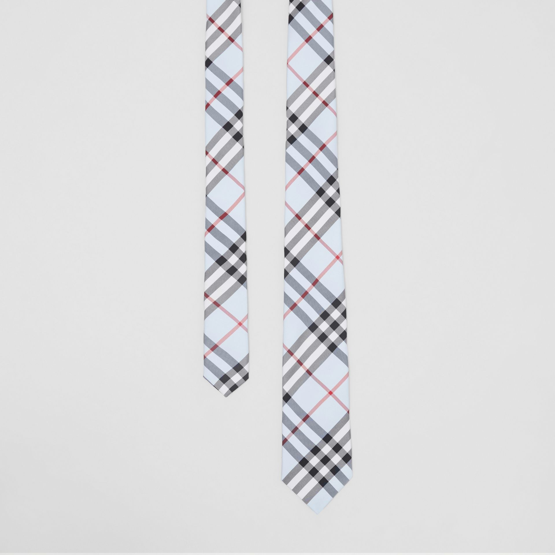 Classic Cut Vintage Check Silk Tie in Pale Blue - Men | Burberry Australia - gallery image 0