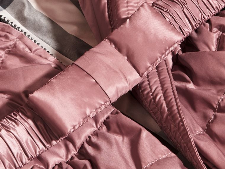 Antique rose Bow Detail Down-filled Puffer Jacket - cell image 1