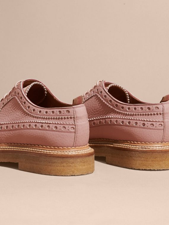 Leather Wingtip Brogues in Rose Pink - cell image 3