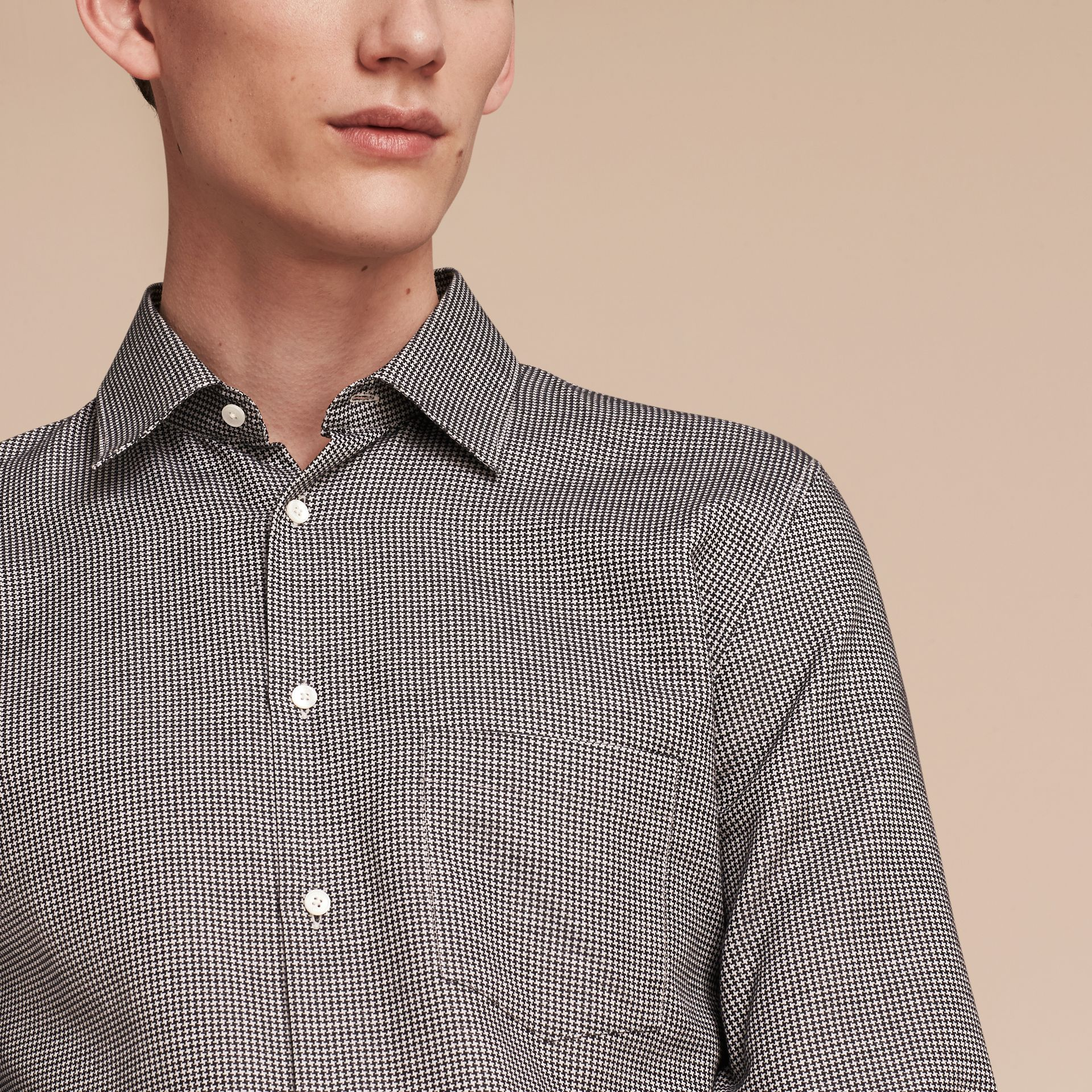 Black Puppytooth Cotton Shirt - gallery image 5