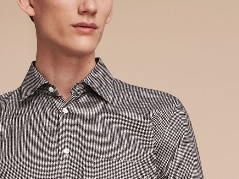 Black Puppytooth Cotton Shirt - cell image 4