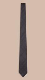 Slim Cut Check Silk Tie