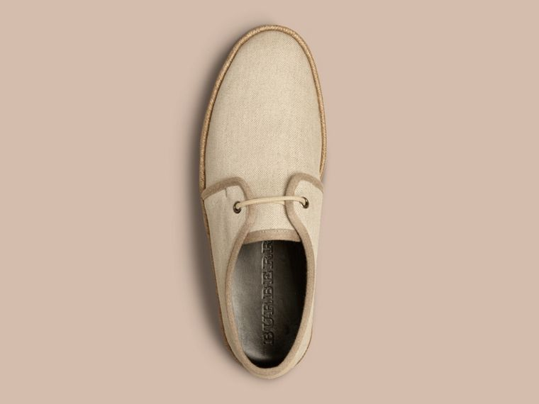 Greystone Japanese Linen Lace-up Espadrilles Greystone - cell image 1