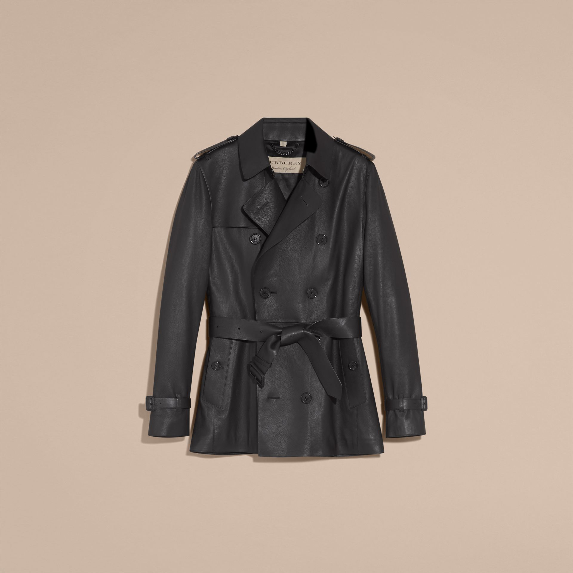 Soft Lambskin Trench Coat - gallery image 4