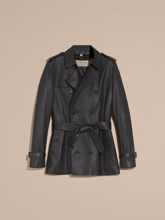Soft Lambskin Trench Coat - cell image 3