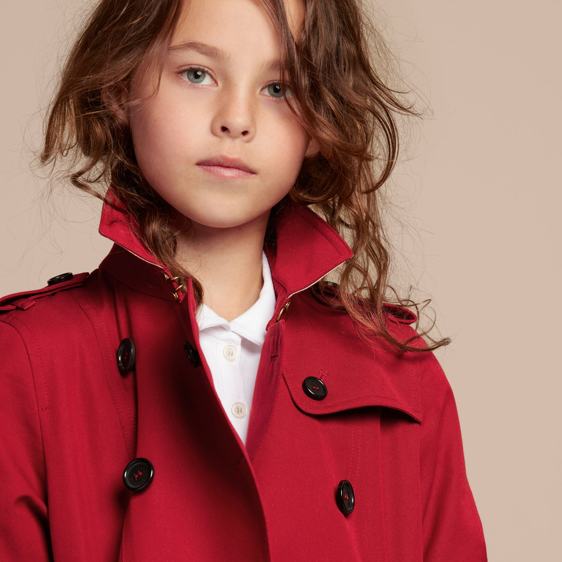 The Sandringham – Heritage Trench Coat in Parade Red - gallery image 6