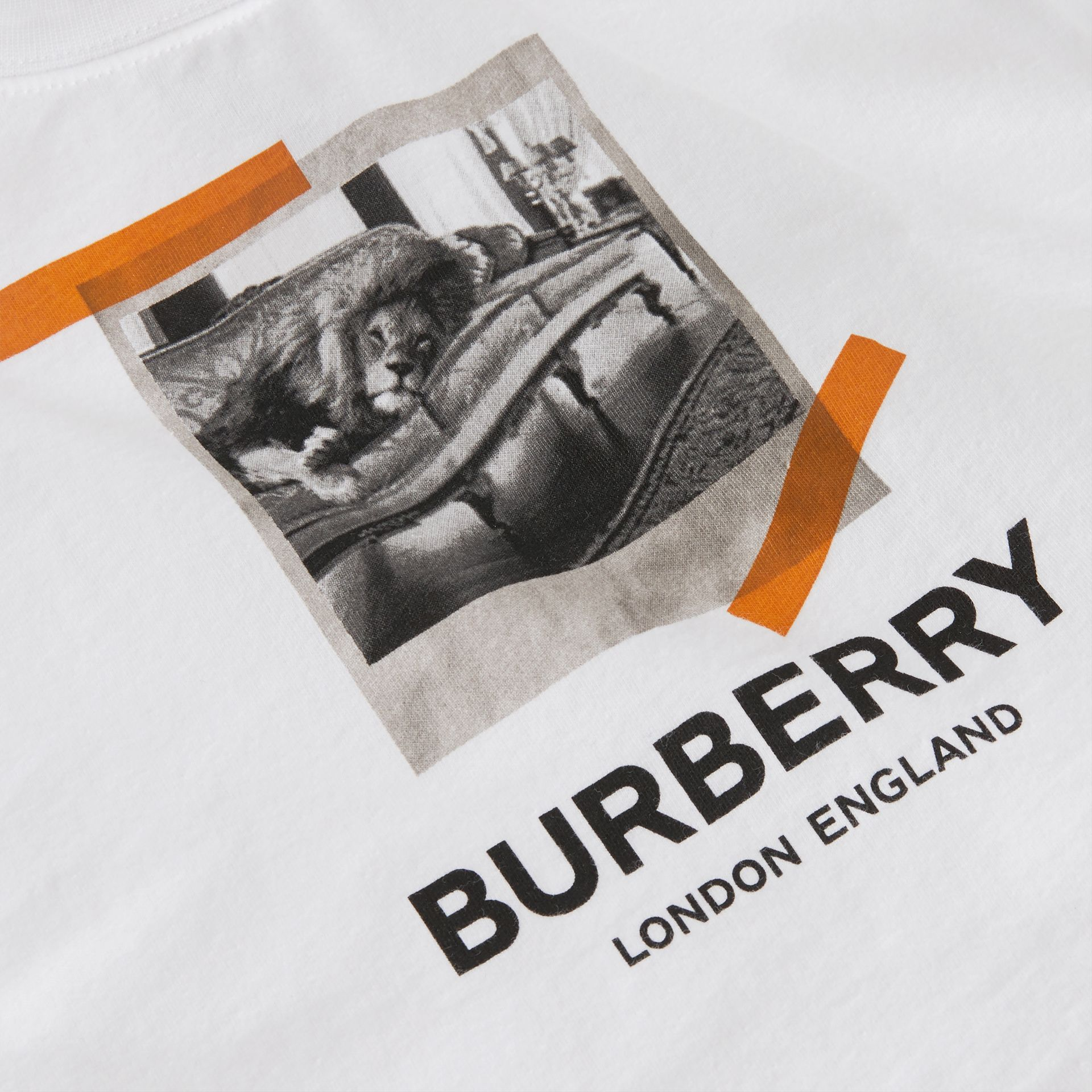 Vintage Polaroid Print Cotton T-shirt in White - Children | Burberry Australia - gallery image 1