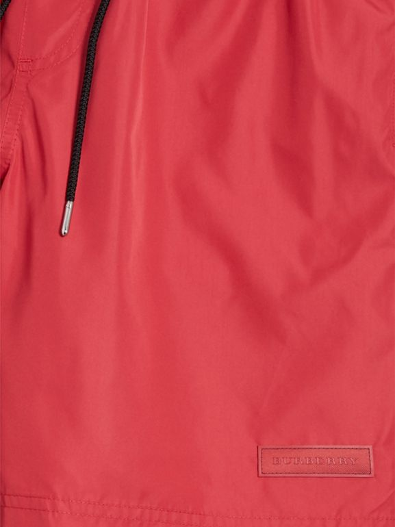 Drawcord Swim Shorts in Parade Red - Men | Burberry - cell image 1