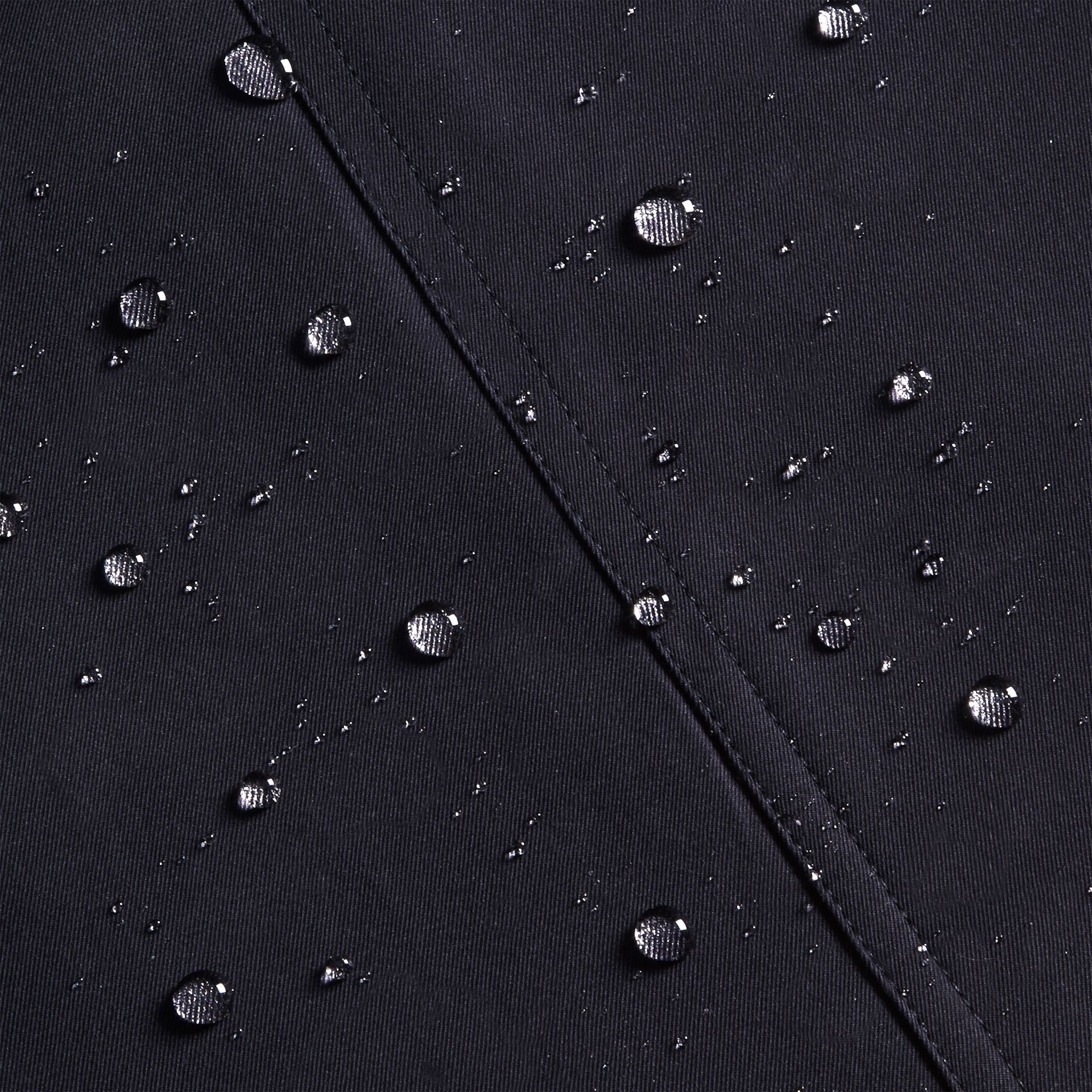 Navy The Sandringham – Short Heritage Trench Coat Navy - gallery image 8