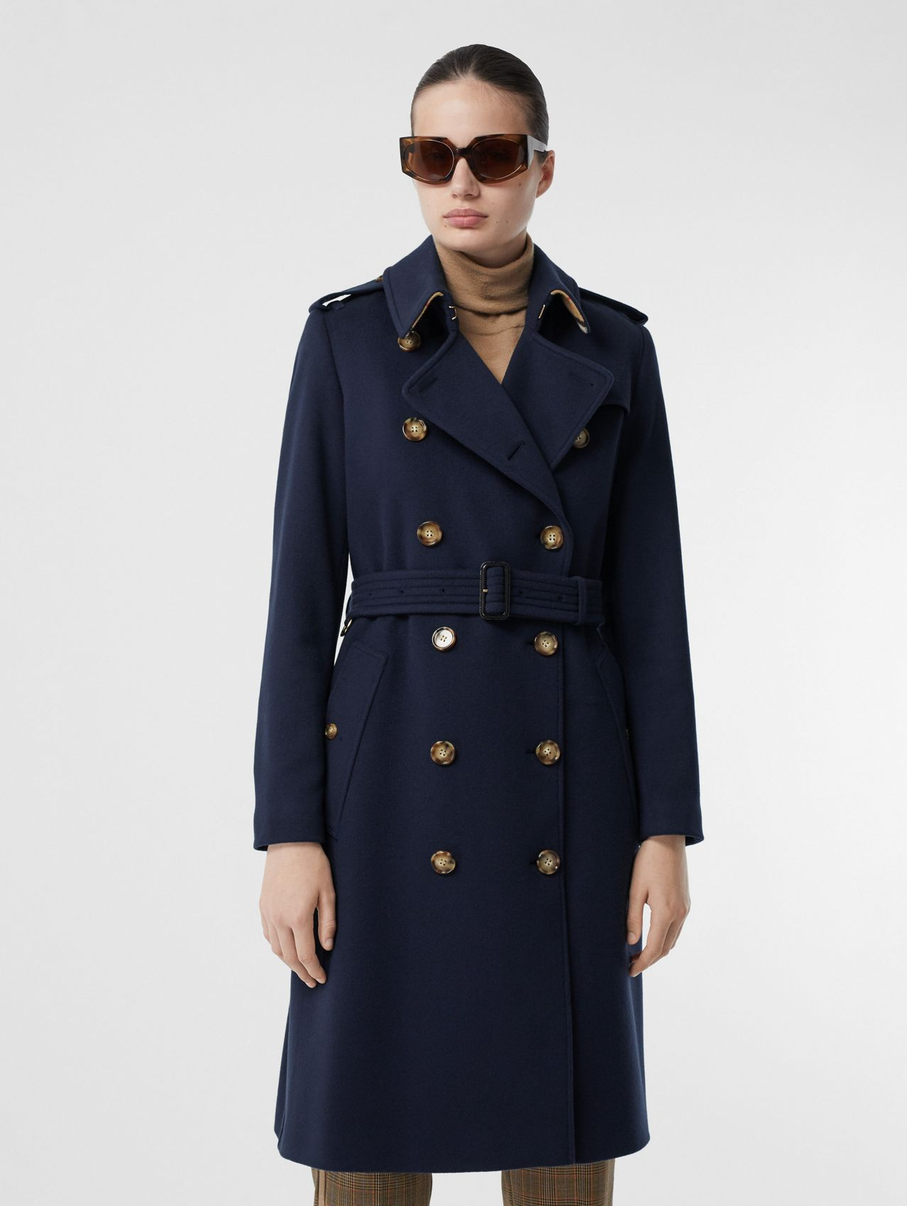 Cashmere Trench Coat (Navy)