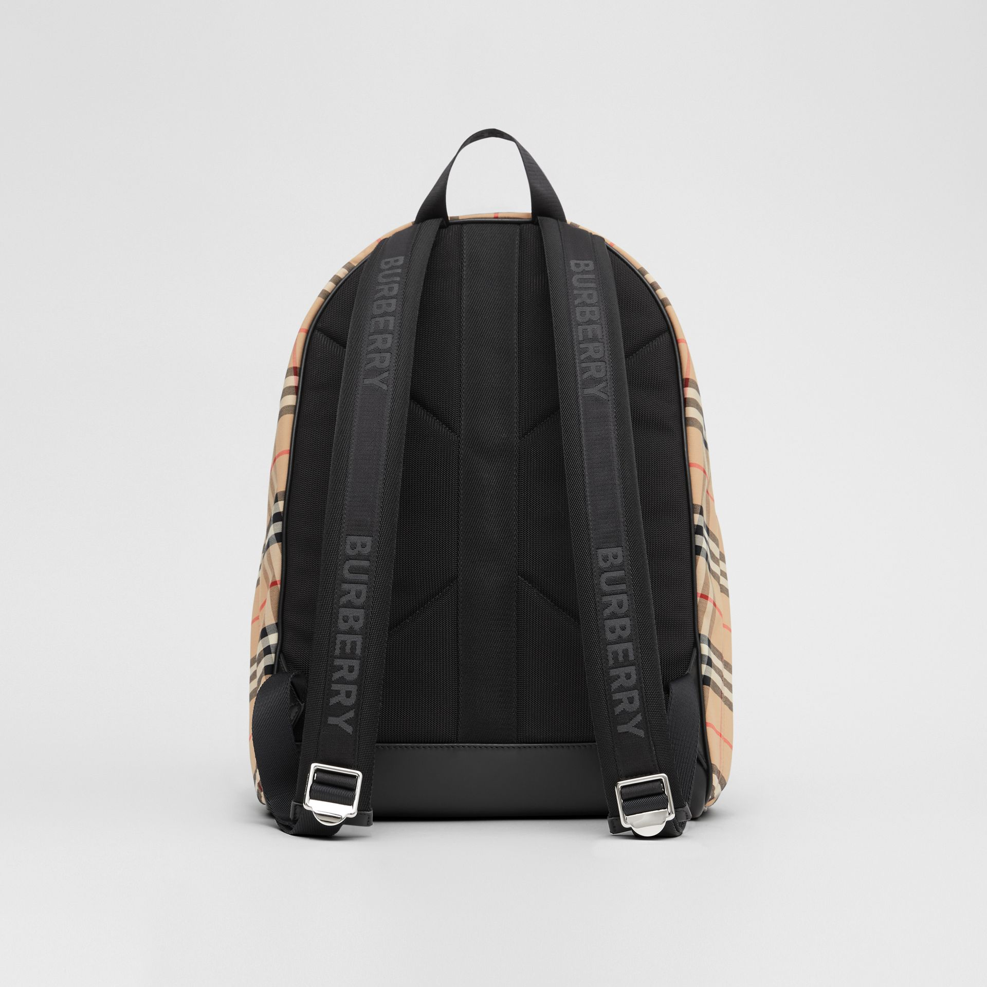 Vintage Check Nylon Backpack in Archive Beige | Burberry Australia - gallery image 7