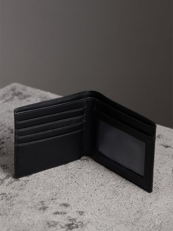London Check ID Wallet in Charcoal/black - Men | Burberry Australia - cell image 3