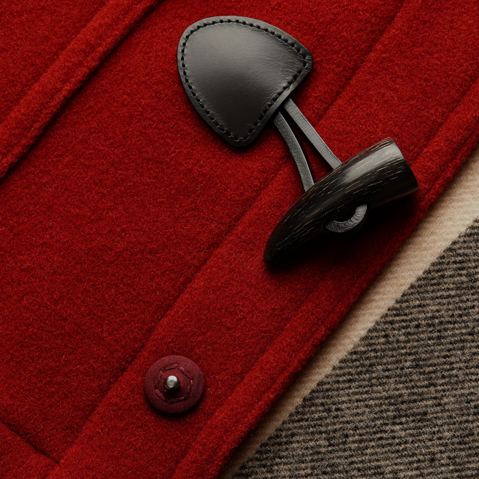 Parade red Wool Detachable Hood Duffle Jacket - gallery image 2