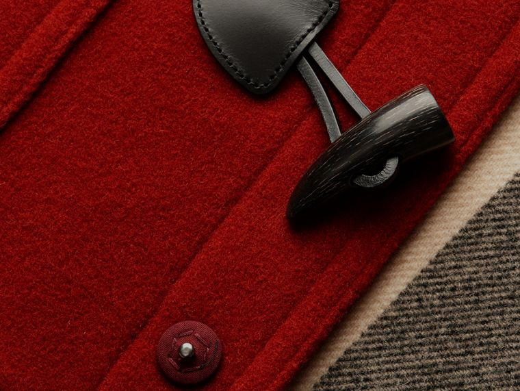 Parade red Wool Detachable Hood Duffle Jacket - cell image 1