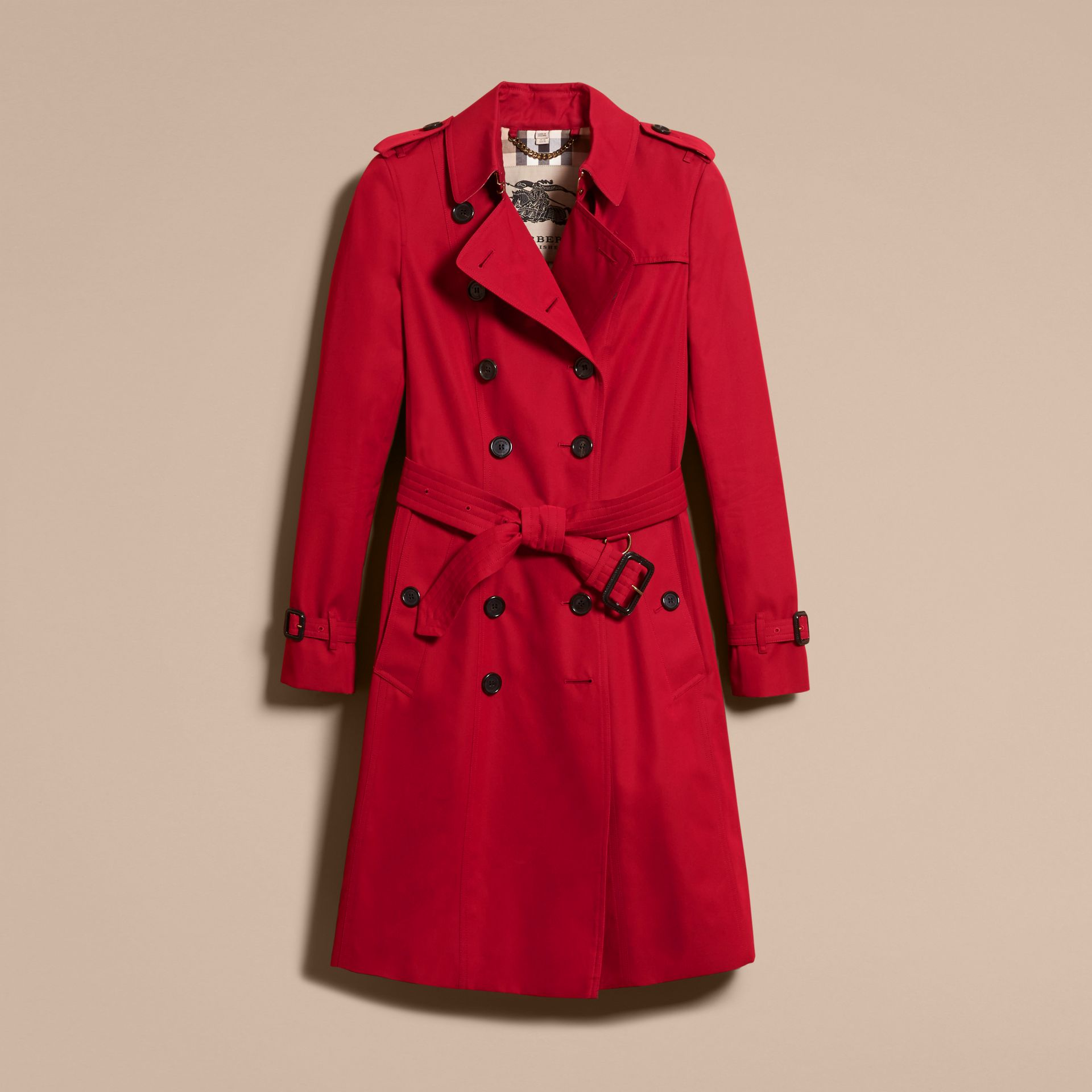 Parade red The Chelsea – Long Heritage Trench Coat Parade Red - gallery image 4