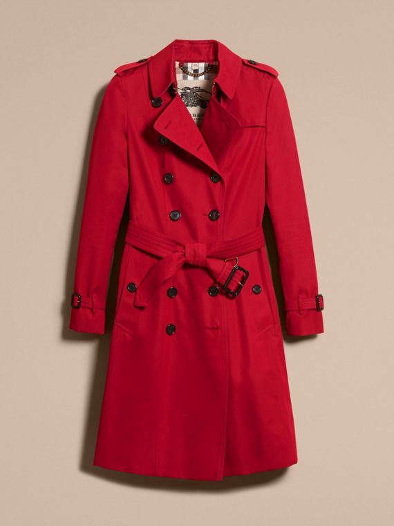 Rojo desfile Trench coat Chelsea – Trench coat Heritage largo Rojo Desfile - cell image 3