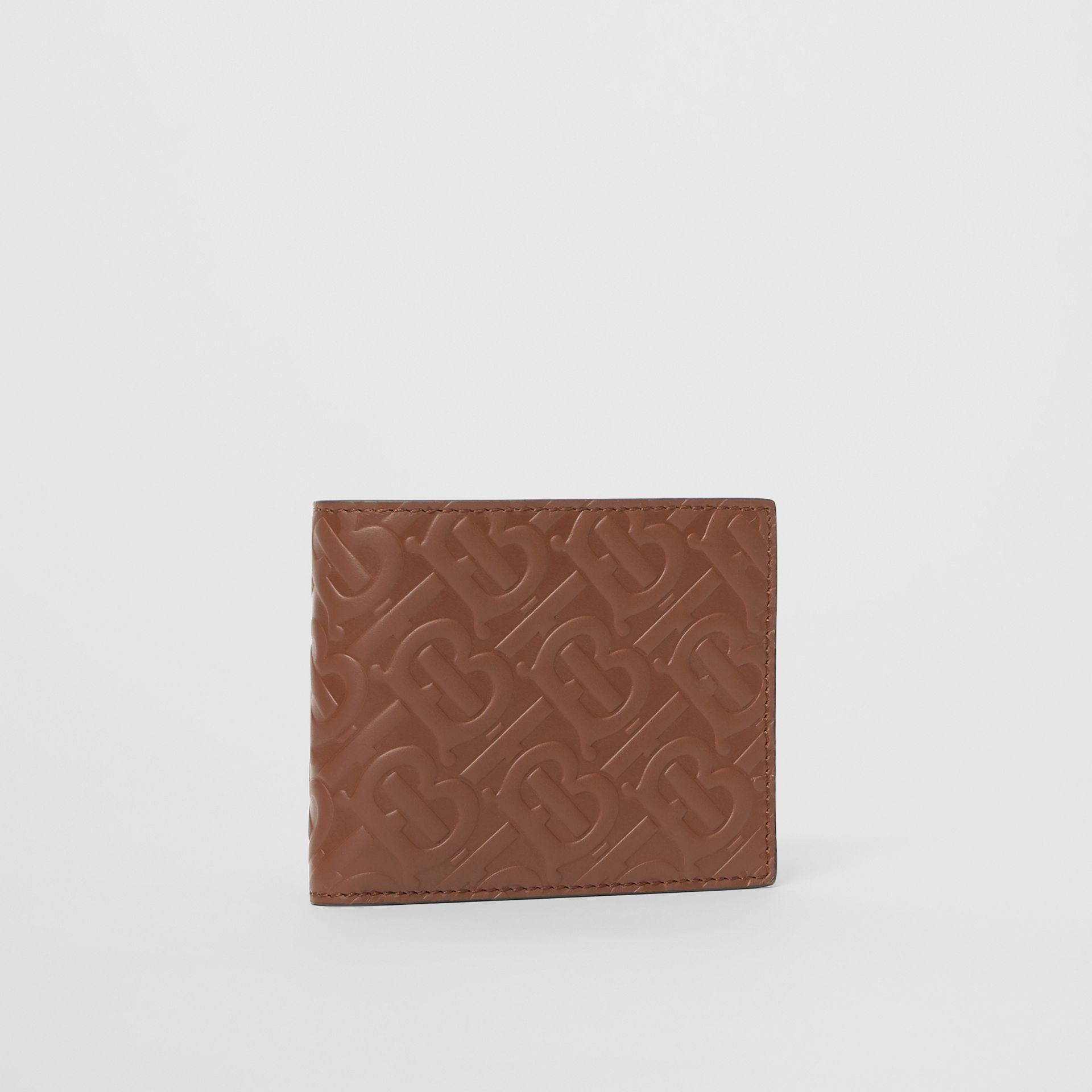 Monogram Leather International Bifold Wallet in Dark Tan - Men | Burberry - gallery image 3