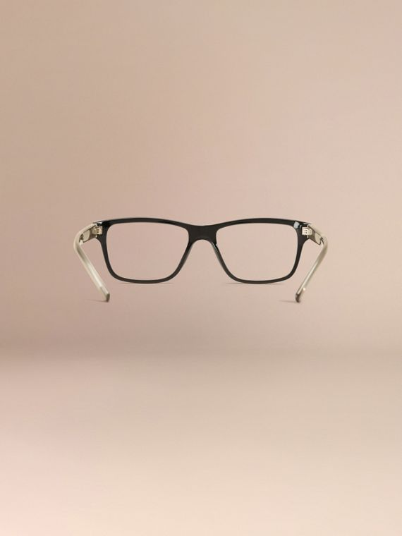 Check Detail Rectangular Optical Frames Black - cell image 3