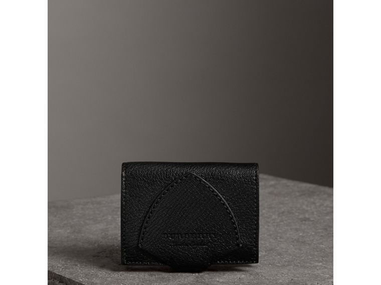 Equestrian Shield Two-tone Leather Folding Wallet in Black - Women | Burberry - cell image 4