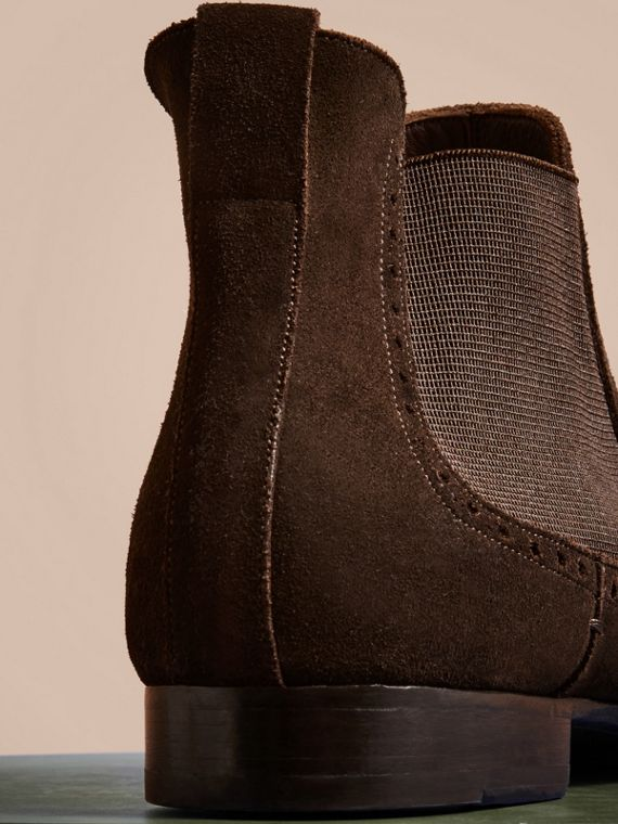 Peat brown Washed-suede Chelsea Boots with Leather Soles - cell image 3