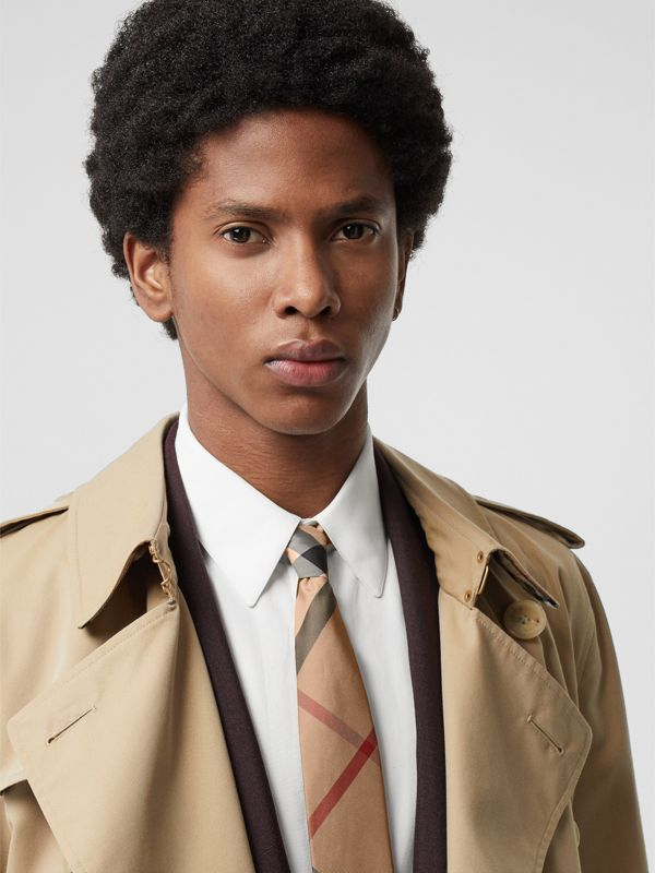 Modern Cut Check Silk Tie in Camel - Men | Burberry United Kingdom - cell image 2