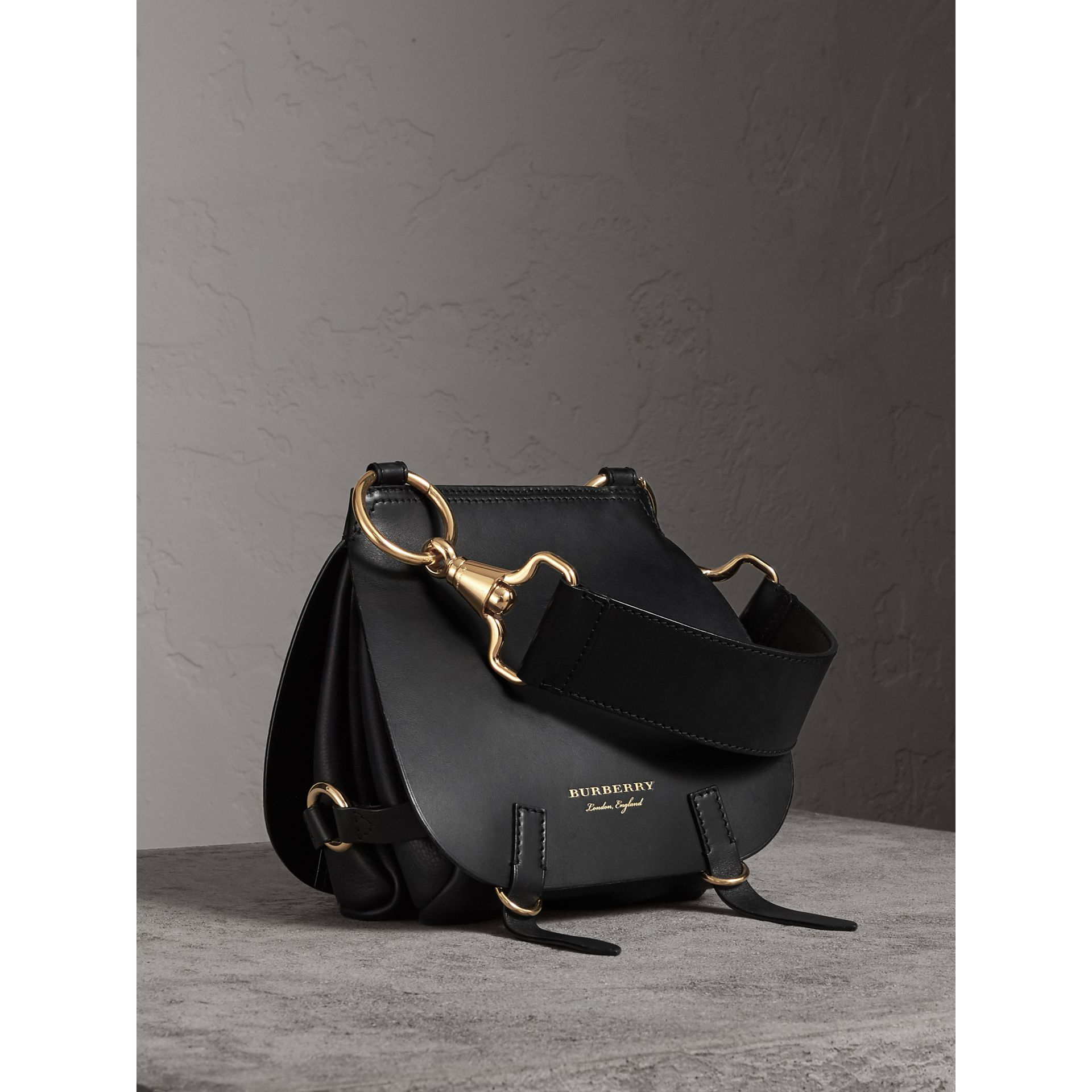 The Bridle Bag in Leather in Black - Women | Burberry - gallery image 1