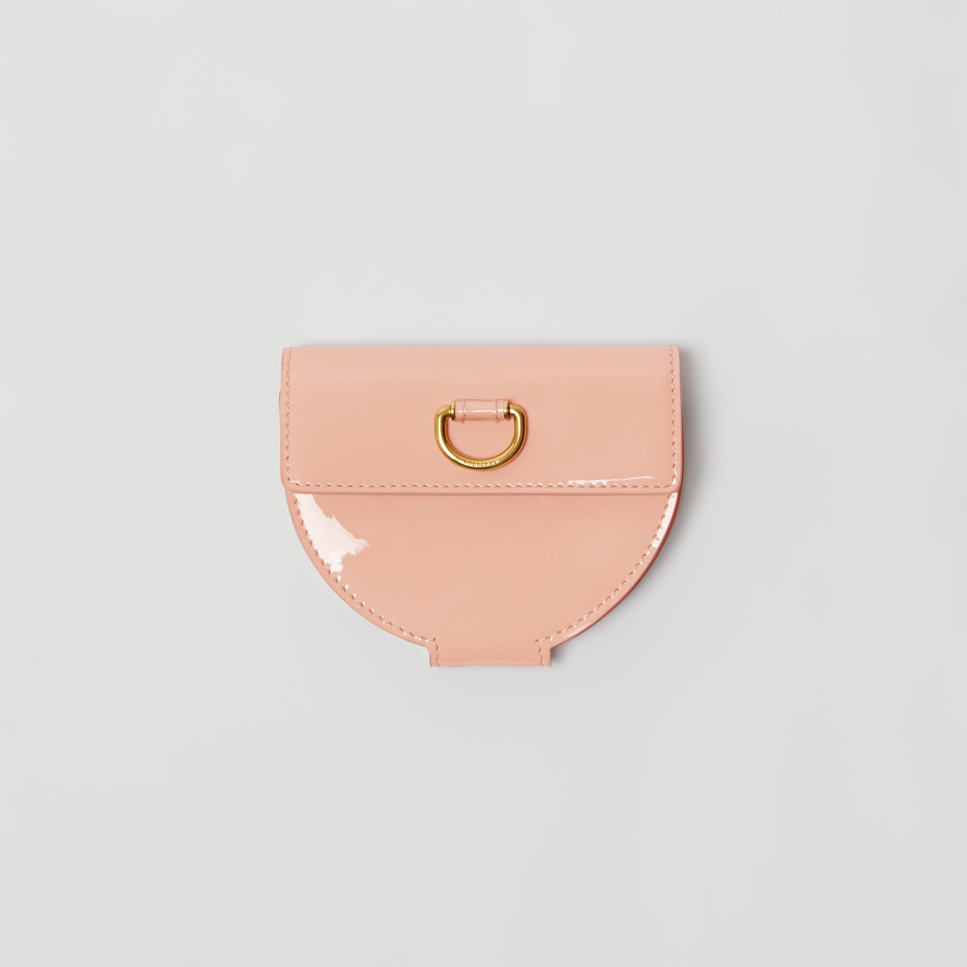 D-ring Detail Patent Leather Coin Case in Pale Fawn Pink - Women | Burberry United Kingdom - gallery image 0