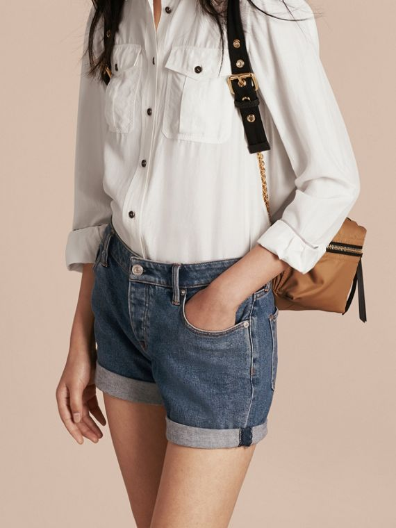Low-rise Denim Shorts