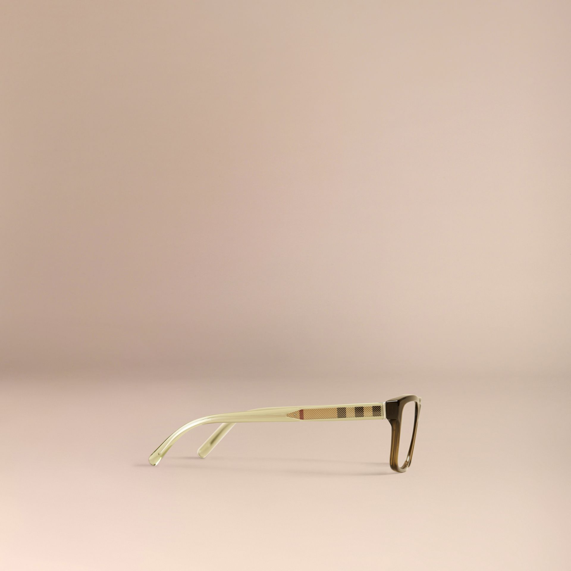 Olive Check Detail Rectangular Optical Frames Olive - gallery image 4