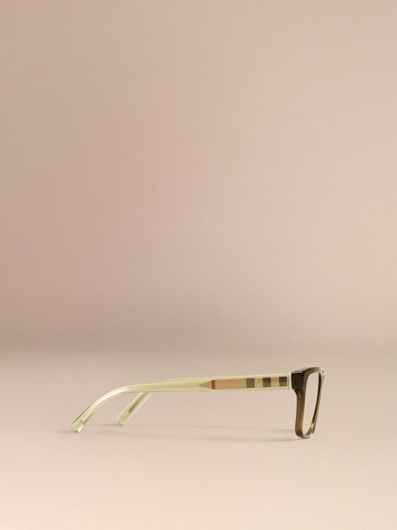 Olive Check Detail Rectangular Optical Frames Olive - cell image 3