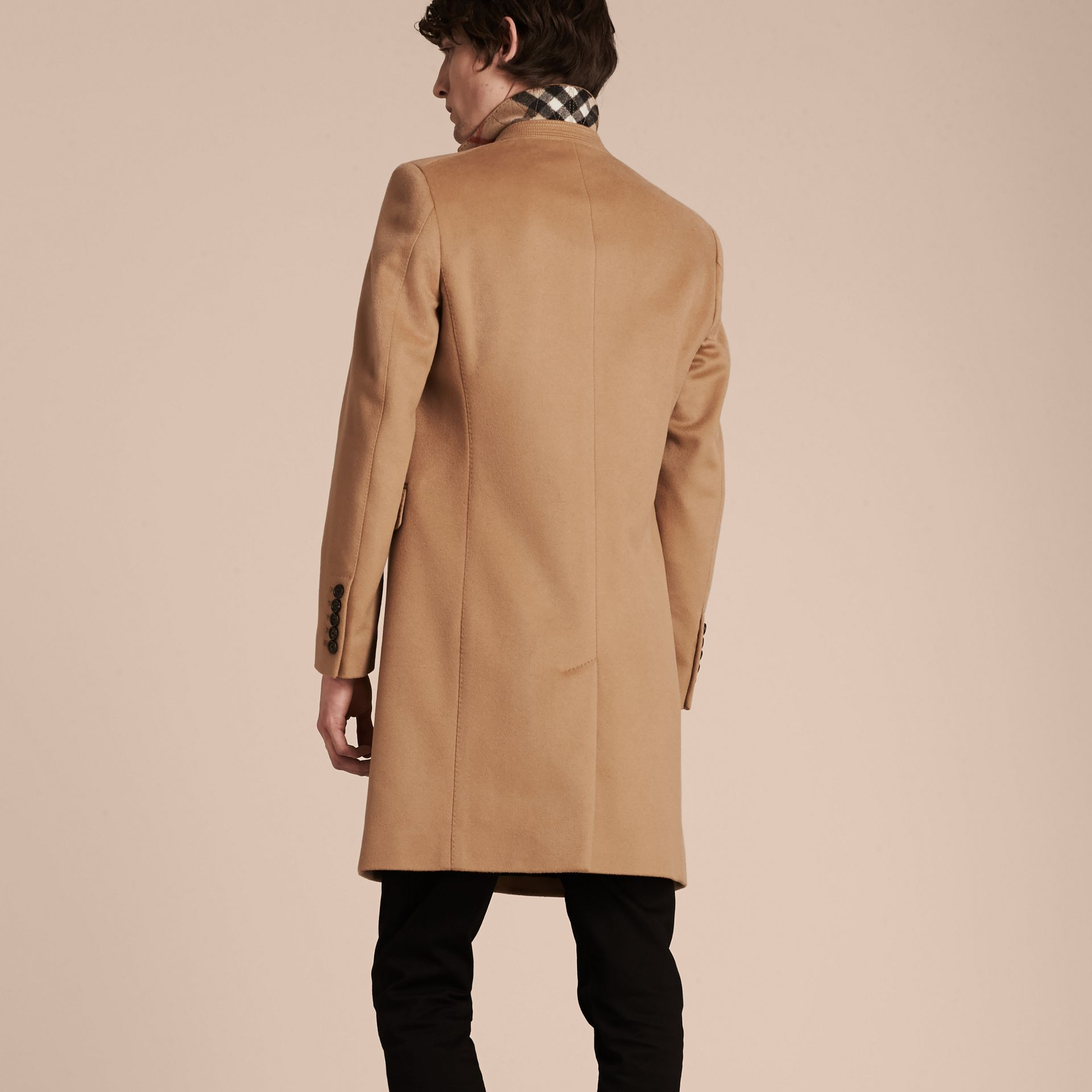Wool Cashmere Tailored Coat Camel - gallery image 3