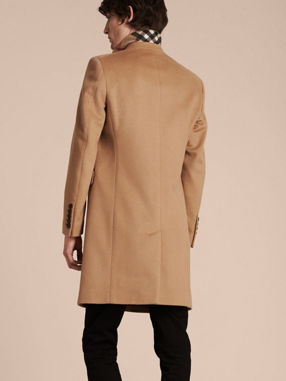 Wool Cashmere Tailored Coat Camel - cell image 2