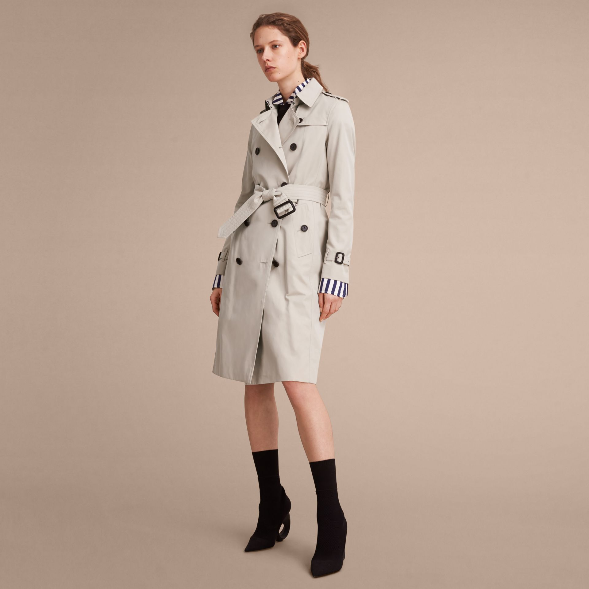Stone The Kensington – Extra-long Heritage Trench Coat Stone - gallery image 8