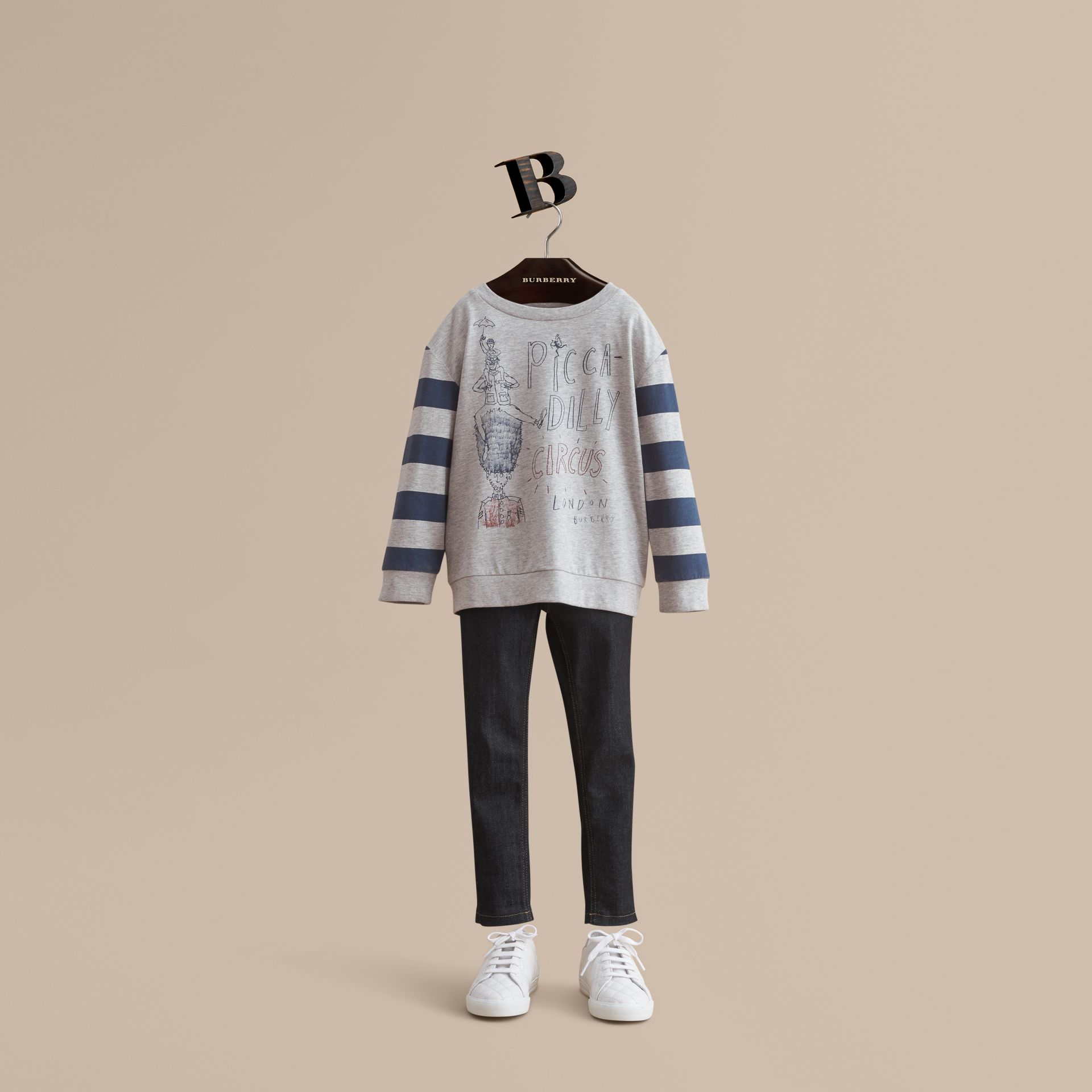 Long-sleeve London Icons Print Cotton T-shirt - Boy | Burberry - gallery image 1