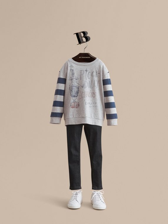 Long-sleeve London Icons Print Cotton T-shirt - Boy | Burberry