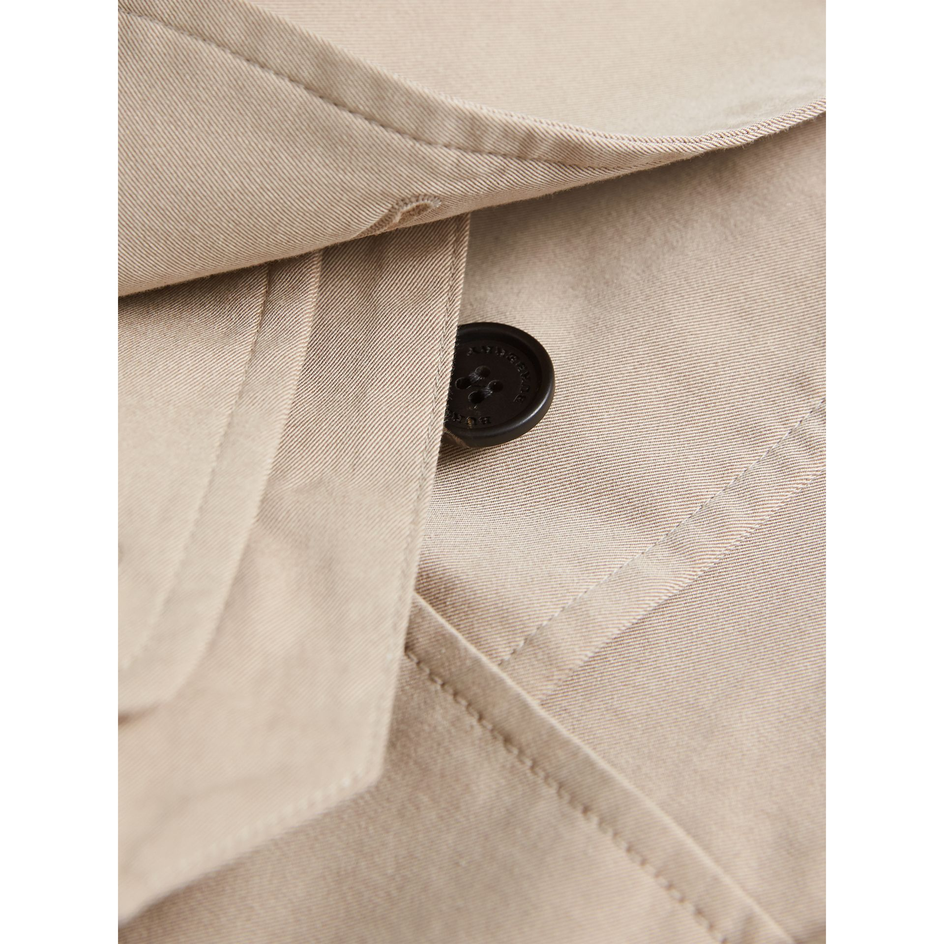 Tropical Gabardine Trench Jacket in Light Taupe | Burberry - gallery image 2