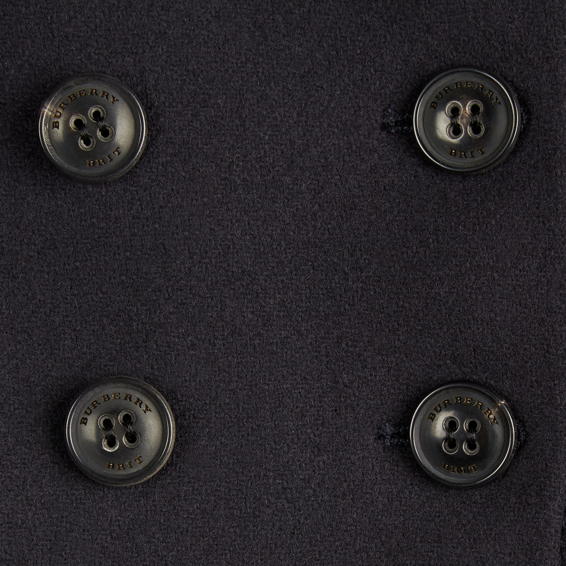 Navy Tailored Wool Cashmere Blend Coat Navy - gallery image 2