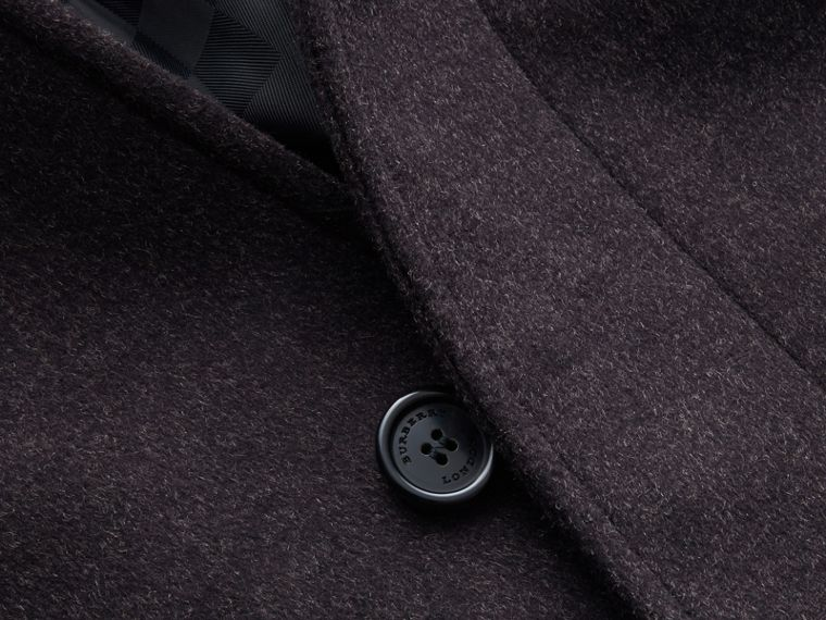 Virgin Wool Cashmere Car Coat Dark Grey Melange - cell image 1