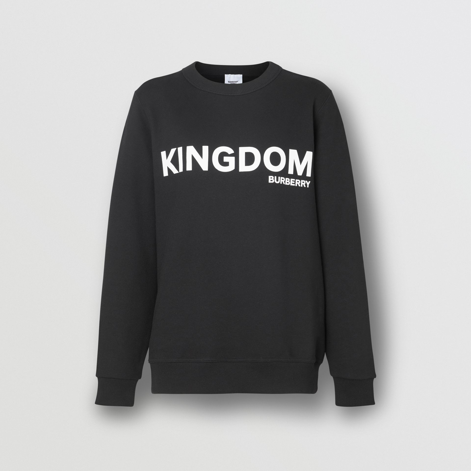 Kingdom Print Cotton Sweatshirt in Black - Women | Burberry - gallery image 3
