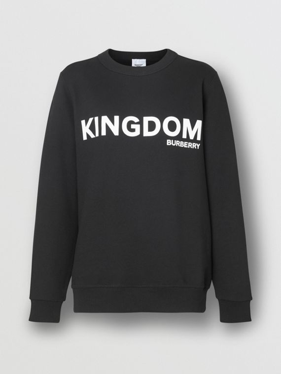 Sweat-shirt en coton Kingdom (Noir)