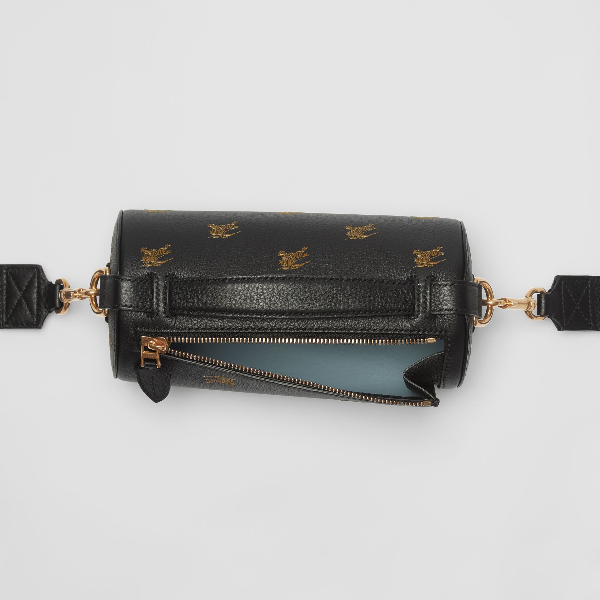 The EKD Leather Barrel Bag in Black - Women | Burberry - gallery image 5