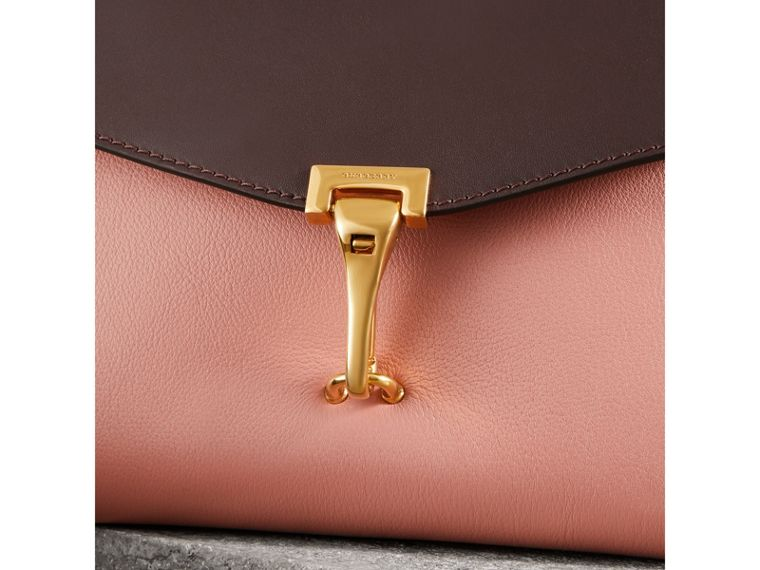 Two-tone Leather Crossbody Bag in Dusty Rose/deep Claret - Women | Burberry Australia - cell image 1