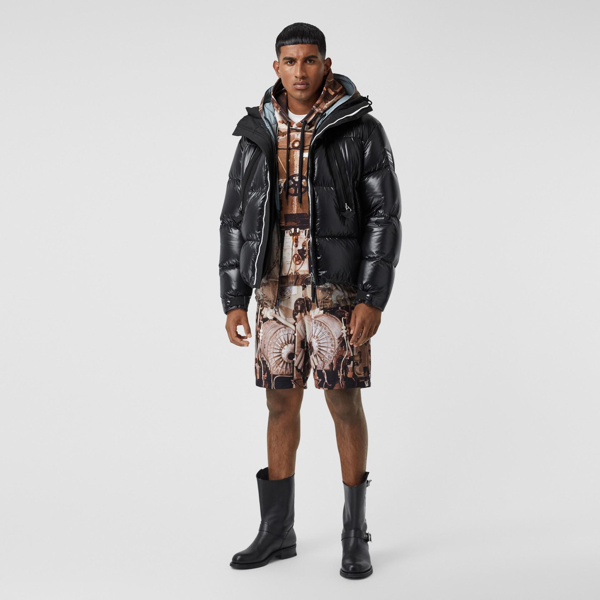 Packaway Hood Puffer Jacket in Black - Men | Burberry - gallery image 0