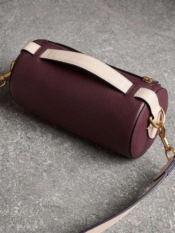 The Leather Barrel Bag in Deep Claret/limestone - Women | Burberry - cell image 2