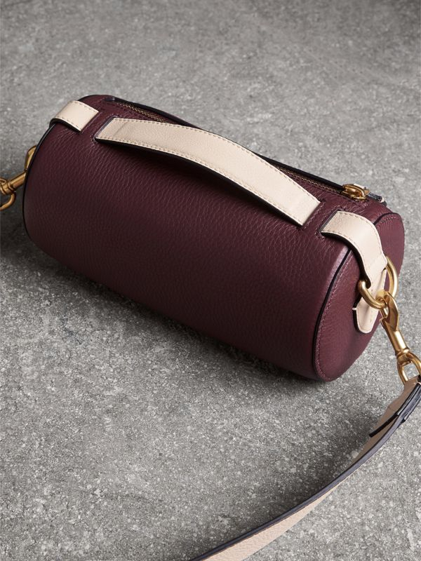 The Leather Barrel Bag in Deep Claret/limestone - Women | Burberry United States - cell image 2